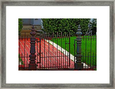 Framed Print featuring the photograph Wrought Iron Gate by Rowana Ray
