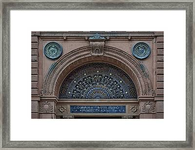 Wrought Iron Grille - The Omaha Building Framed Print by Nikolyn McDonald