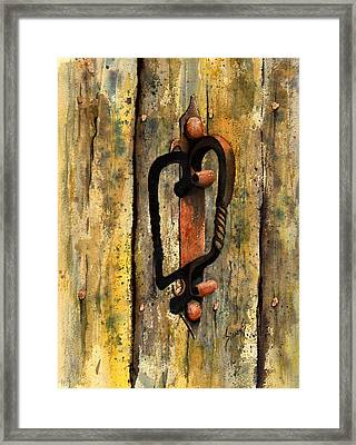 Wrought Iron Handle Framed Print by Sam Sidders