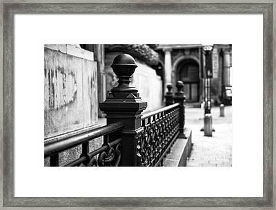 Wrought Iron In Hamburg Mono Framed Print by John Rizzuto