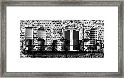 Framed Print featuring the photograph Wrought Iron by Lawrence Burry