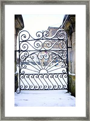 Wrought Iron Snow Framed Print