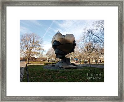Wtc Globe Framed Print by James Dolan