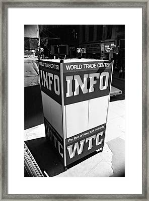 Wtc Info Sign Framed Print