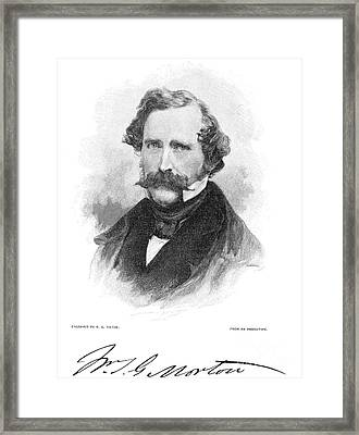 W.t.g. Morton (1819-1868) Framed Print by Granger