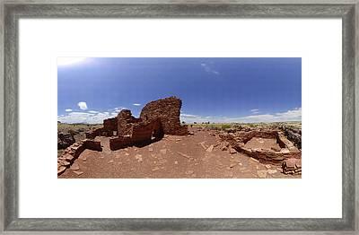 Wupatki Lomaki Stone Dwellings July 24 2011 Framed Print by Brian Lockett