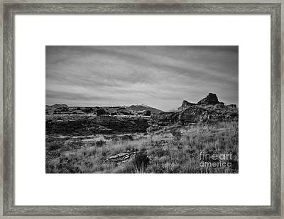 Wupatki National Monument-ruins V14 Framed Print by Douglas Barnard