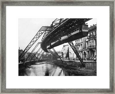 Wuppertal Suspension Railway Framed Print by Underwood Archives
