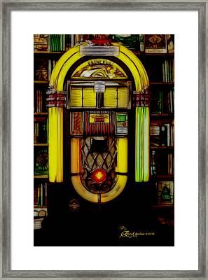 Wurlitzer 1946 Jukebox - Featured In Comfortable Art Group Framed Print by EricaMaxine  Price