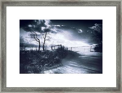 Wuthering Heights Snowscape Framed Print by Theresa Tahara