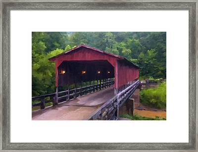 Wv Covered Bridge Framed Print