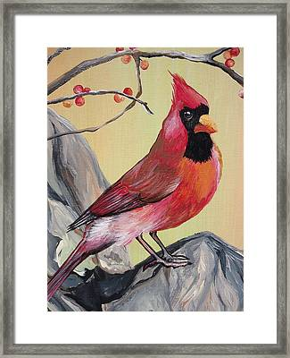 Wv State Bird Framed Print