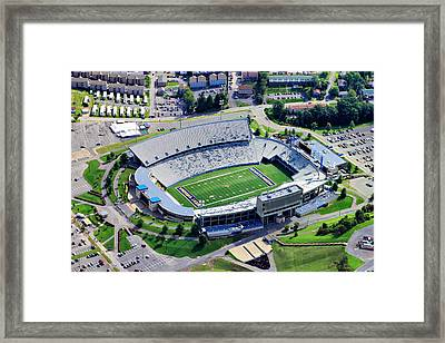 Wvu Mountaineer Stadium Aerial Framed Print by Pittsburgh Aerials