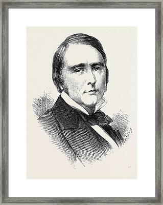 W.w. Gull M.d. 1871 Framed Print