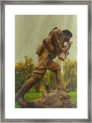 Ww I Dough Boy Framed Print by Thomas Woolworth