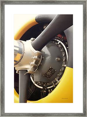 Ww II Airplane Engine Framed Print by Thomas Woolworth