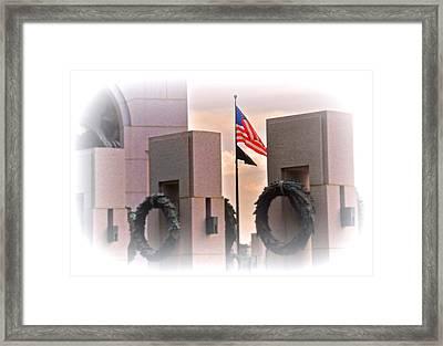 Ww II Memorial  Framed Print