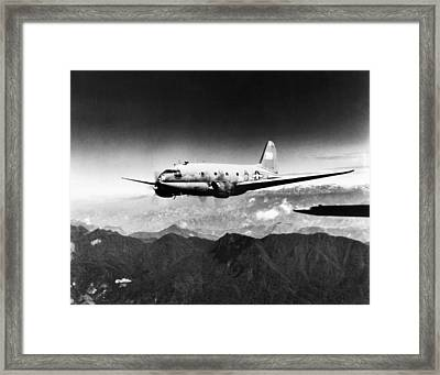 Ww II: Transport Aircraft Framed Print by Granger