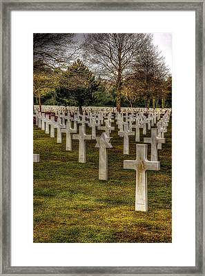 Framed Print featuring the photograph Ww II War Memorial Cemetery by Elf Evans