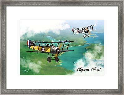 Ww1 British Sopwith Scout Framed Print by John Wills