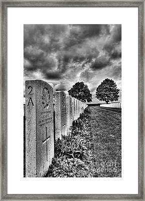 Ww1 Cemetery Framed Print
