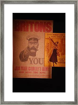 Ww1 Recruitment Posters Framed Print
