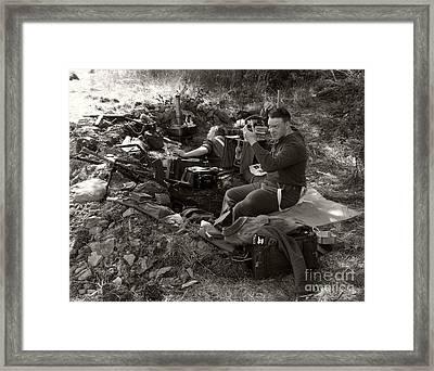 Ww2. British Soldier 2 Framed Print by Ladi  Kirn