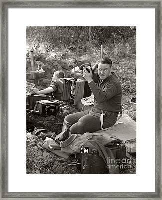 Ww2. British Soldier Framed Print by Ladi  Kirn