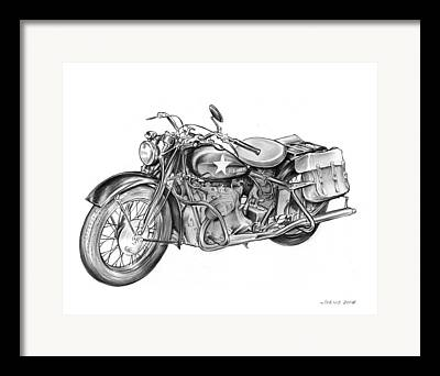 Stars And Stripes Drawings Framed Prints