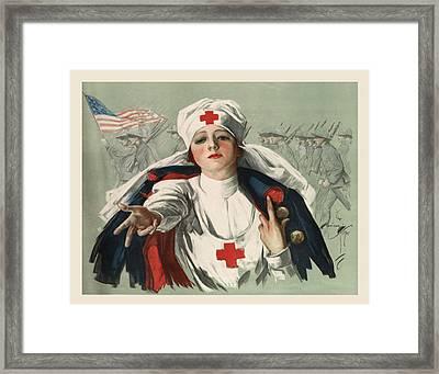 Ww2 Red Cross Framed Print by Georgia Fowler