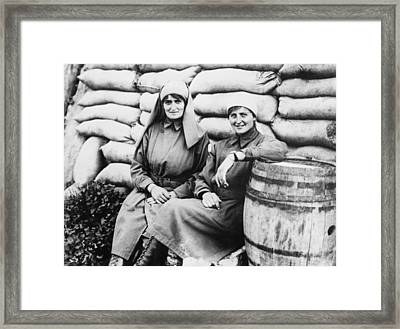 Wwi angels Of Mercy Framed Print by Underwood Archives