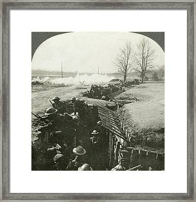 Wwi Battlefield, C1916 Framed Print by Granger