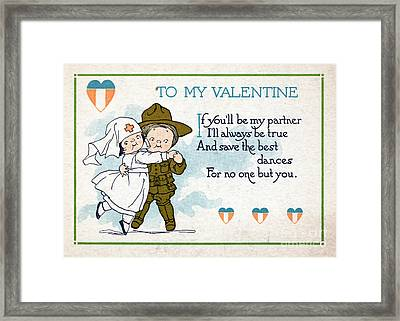 Wwi, For No One But You, Valentine Framed Print by Science Source