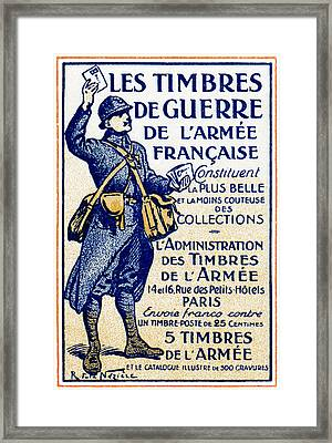 Wwi French War Stamps Framed Print
