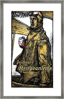 Wwi German Aviation War Bond Poster Framed Print by Historic Image