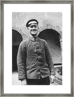 Wwi German Prisoner Framed Print by Underwood Archives