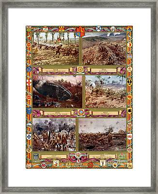 Wwi, Important Battles Of The British Framed Print by Photo Researchers