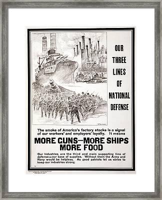 Wwi Poster, 1917 Framed Print by Granger