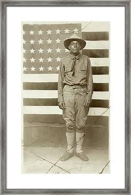 Wwi Soldier, C1916 Framed Print by Granger