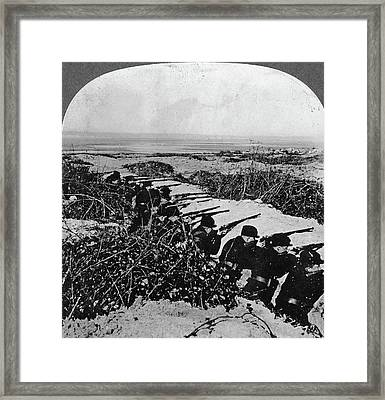Wwi Trenches, C1916 Framed Print