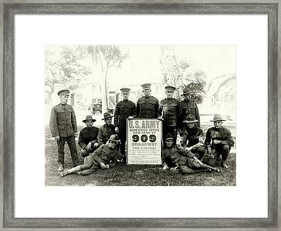 Wwi Us Army Recruiters Of California Framed Print by Historic Image