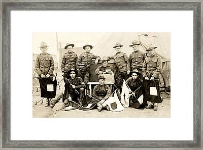 Wwi Us Army Signal Corps Framed Print by Historic Image