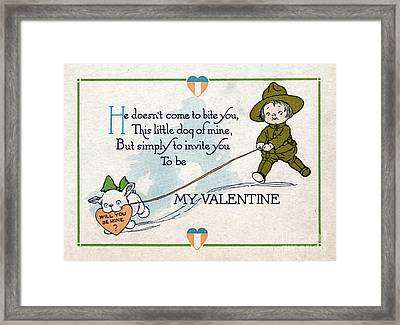 Wwi, Will You Be Mine, Valentine Card Framed Print by Science Source
