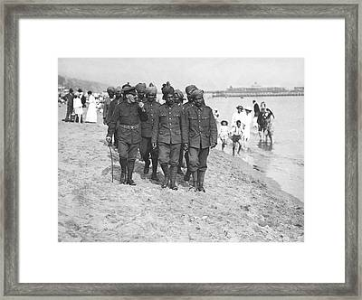 Wwi Wounded Indian Soldiers Framed Print by Underwood Archives