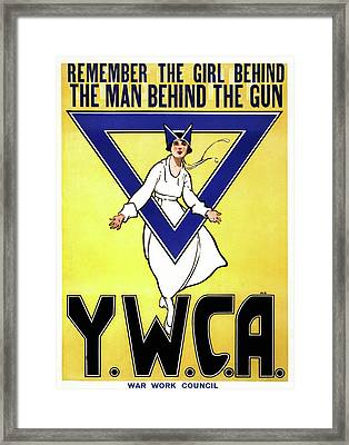 Wwi Ywca Poster, 1917 Framed Print by Granger