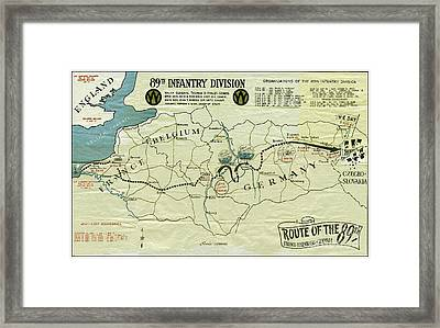 Ww I I 89th Division Map Original Framed Print