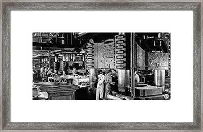 Wwii Aircraft Factory Framed Print