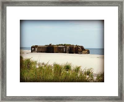 Wwii Bunker Framed Print by Brenda Conrad