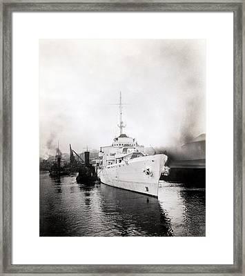Wwii Coast Guard Cutter Campbell Framed Print