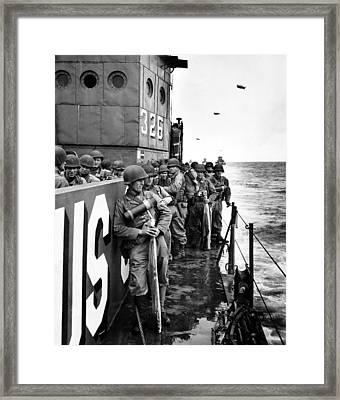 Wwii D Day Landing Framed Print
